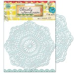She Art 6x6 Vintage Lace Stencil